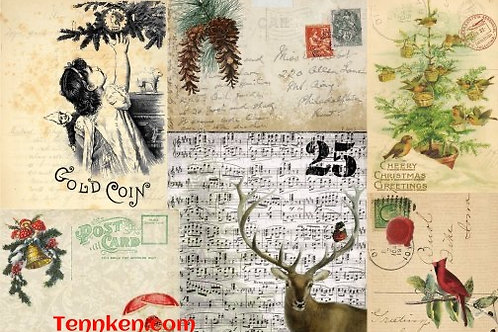 Roycycled Decoupage Fall and Christmas Papers