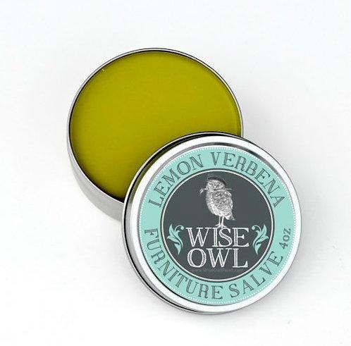 Wise Owl Furniture Salve - 8 oz - LEMON VERBENA / WHITE TEA/  CITRUS MINT