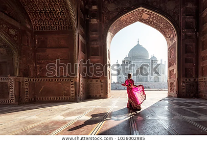 woman-red-sareesari-taj-mahal-600w-10360