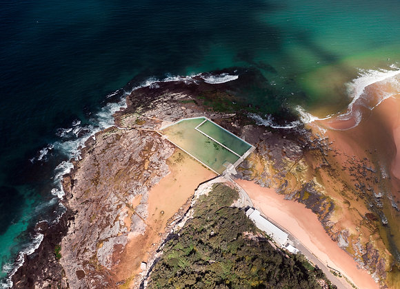 North Narrabeen Ocean Pool - RLNB002 - Ross Long Photography - Print Sale