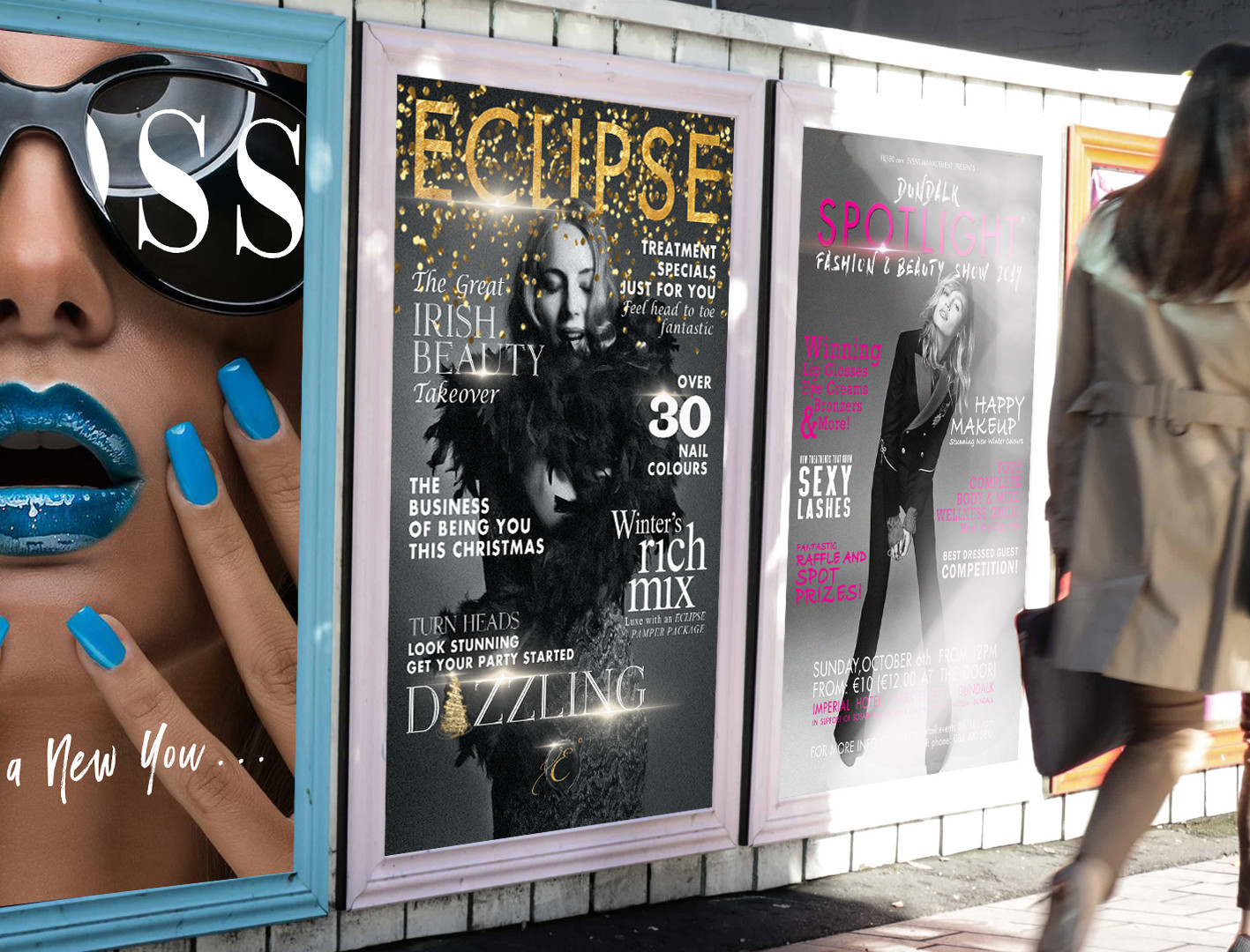 Exterior poster designs.