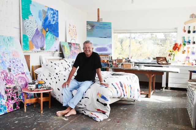 Ken Done in his studio