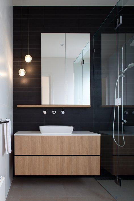 Mirrored shaving cabinet