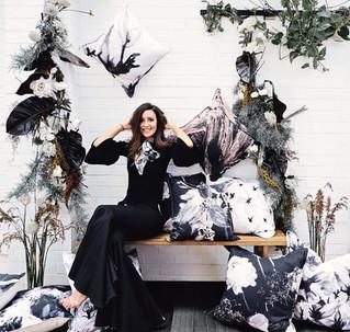 Hawtrey: Stunning dark floral cushions & art from Perth