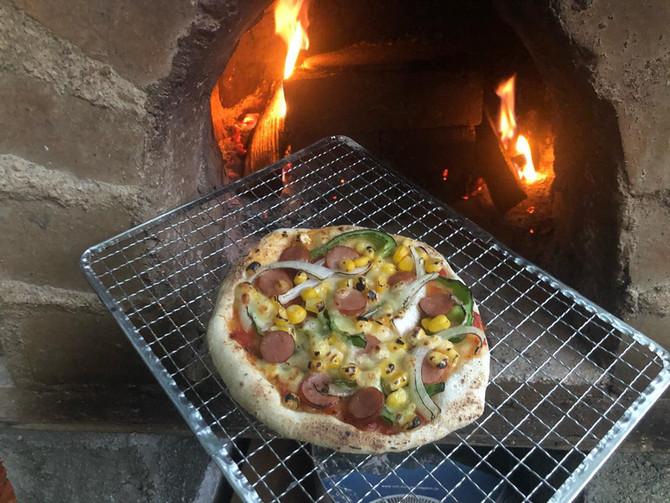 石窯ピザ作り体験始めました!
