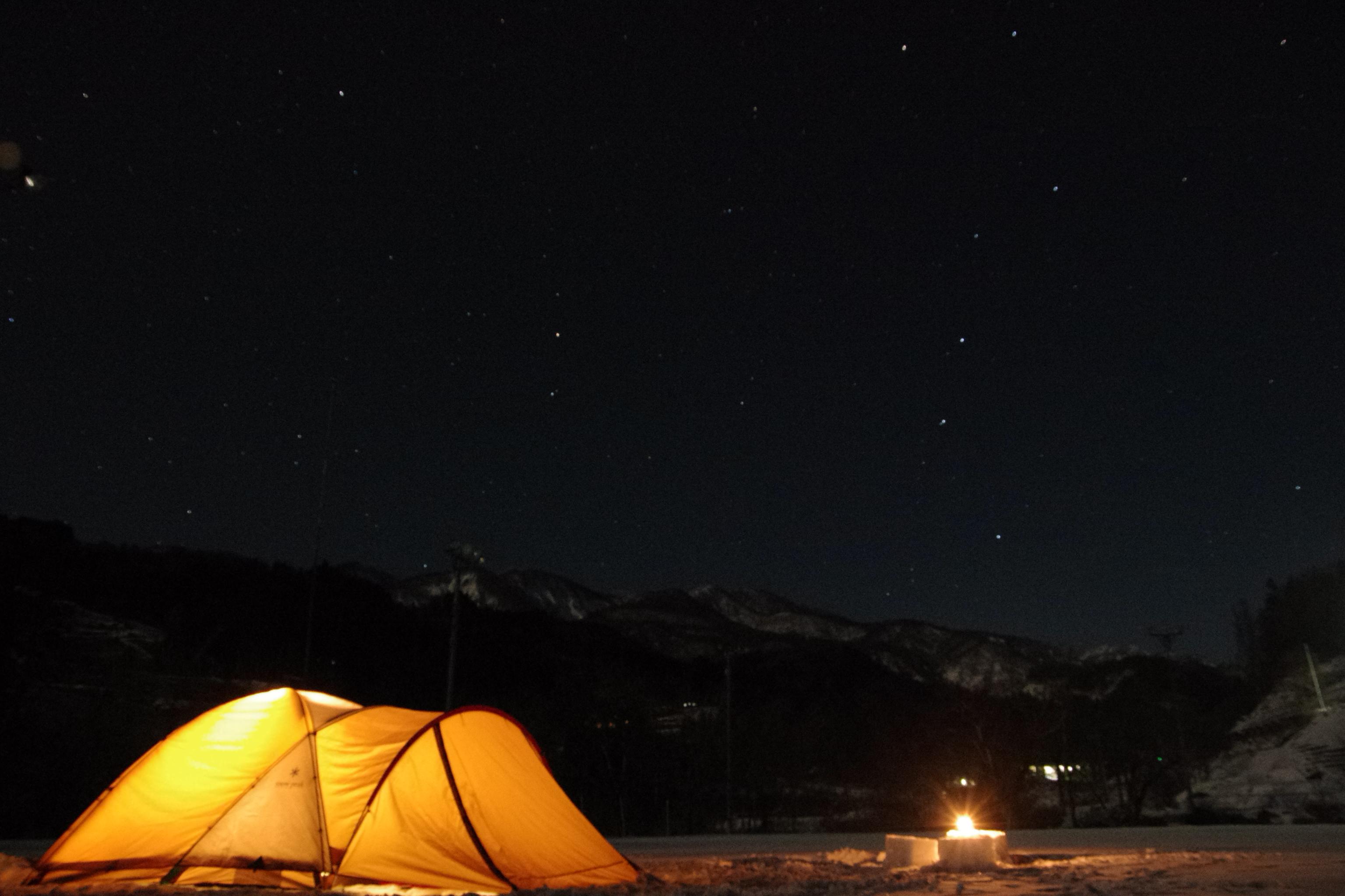 ~雪上テント泊~ めっちゃ寒い!けど星めっちゃきれい!