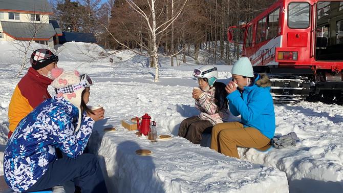 🍁雪上車メープルハントライドスタートしました!