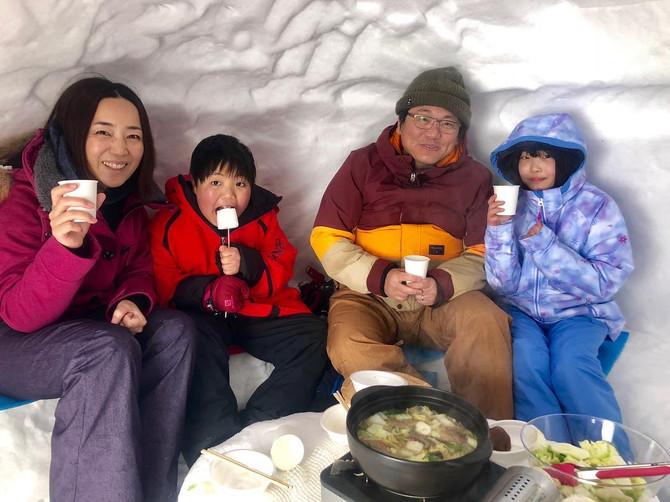 かまくらジビエランチと雪遊び 好評開催中!!