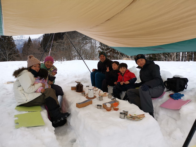 ⛄️3月20日(金)より 残雪の『石坂森林探険村』 オープンします!!