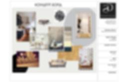 дизайн квартиры, образец дизайн проекта, коллаж, скандинавский стиль в интерьере