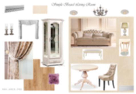 АМСД, Надежда Ращупкина, дизайн интерьера гостиной, столовая,  дизайн гостиной комнаты, трехкомнатная квартира, 3д визуализация, неоклассика, свободная классика