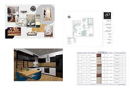 техническое задание, подписание договора, пояснительная записка, визуализация, рабочие четрежи, спецификация мебели, ведомомсть материалов, дизайн интерьеров