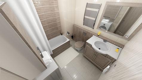АМСД, Надежда Ращупкина, дизайн интерьера ванной комнаты, дизайн ванной, ванная комната, трехкомнатная квартира, 3д визуализация, современный стиль интерьера, свободная классика