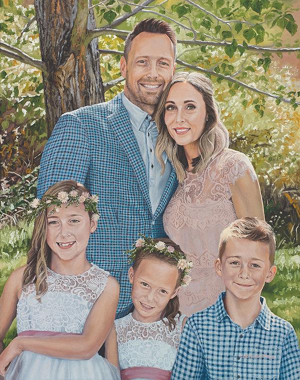 S. Brandon Tracy, oil portrait, family portrait, oil painting