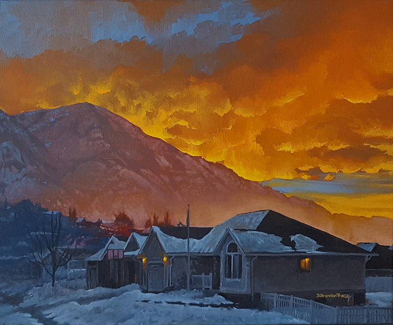 oil painting utah sunrise