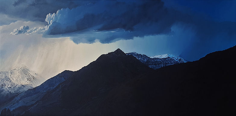 mountain silhouette.jpg oil painting american fork canyon