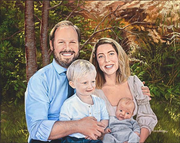 oil painting, family portrait, S. Brandon Tracy, oil portrait