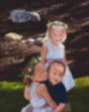 oil painting, oil portrait, portrait, portrait of children, S. Brandon Tracy