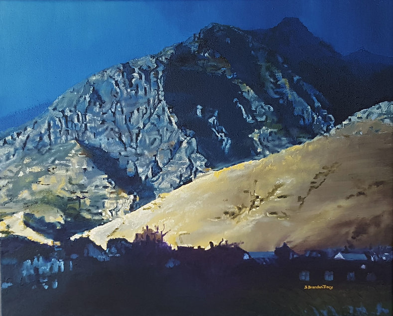 oil painting sunset utah american fork canyon