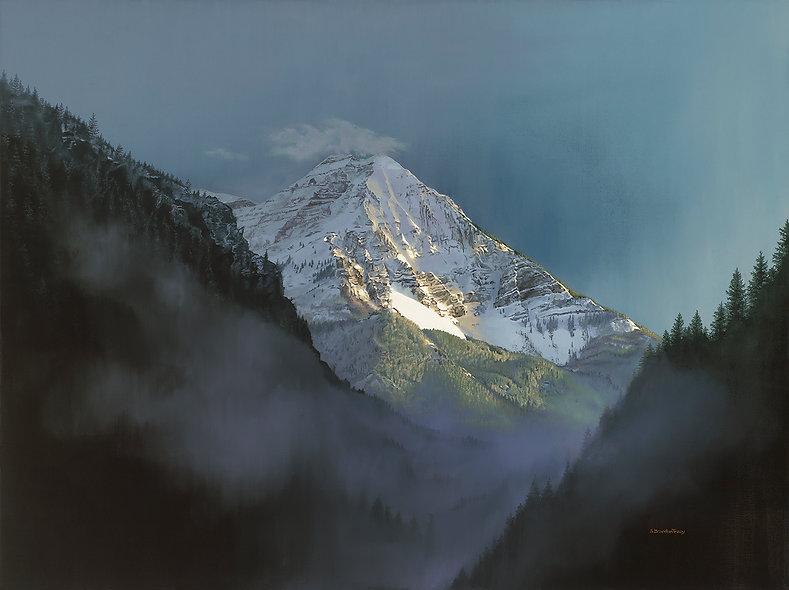 mountain timpanogos, utah mountains, S Brandon Tracy oil painting
