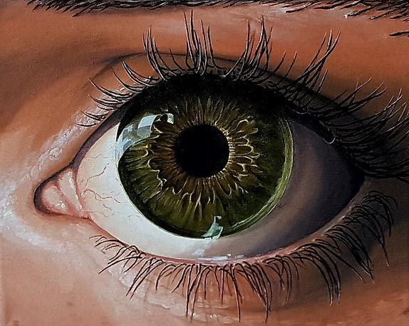 oil painting eye
