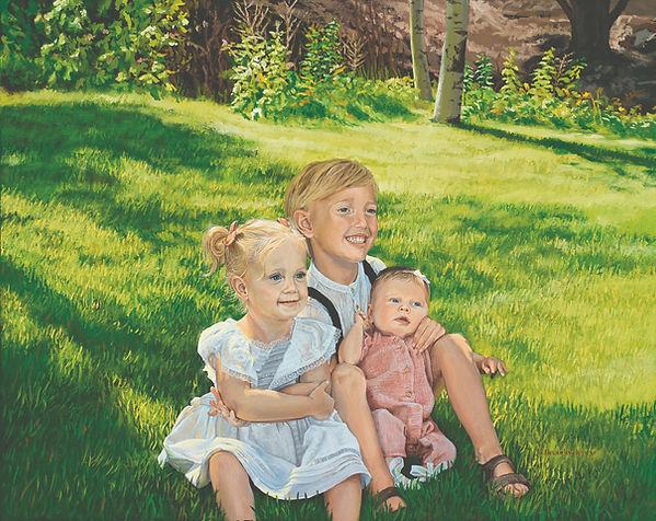 oil portrait, oil painting, portrait of children, S. Brandon Tracy