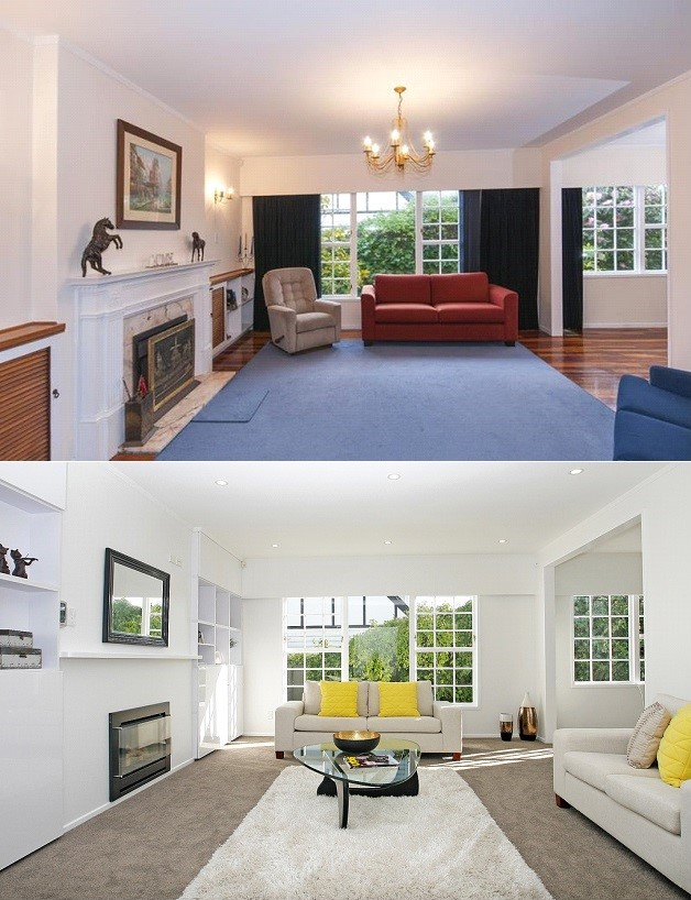 Main Living Before and After