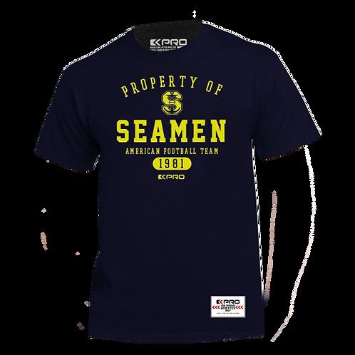 T-Shirt Blue Property of Seamen