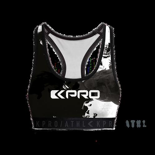 "Kpro ATHL Sports Bra ""Black Smoke"""