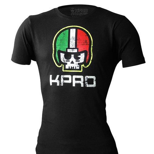 """T-shirt Kpro """"Skull"""" Fluo Black"""