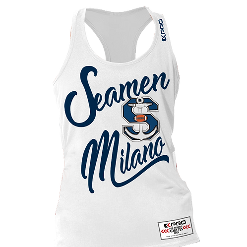 Tank Top Woman Seamen White
