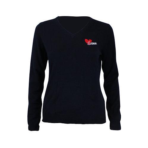 """Seamen Woman V-Neck Sweater """"Seamen Love"""""""