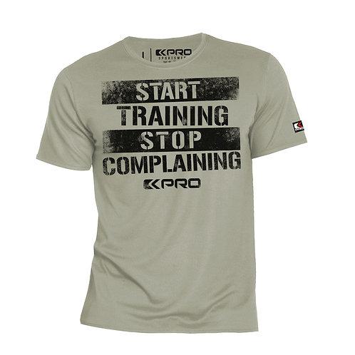"Kpro Tshirt ""Start training, stop complaining"""