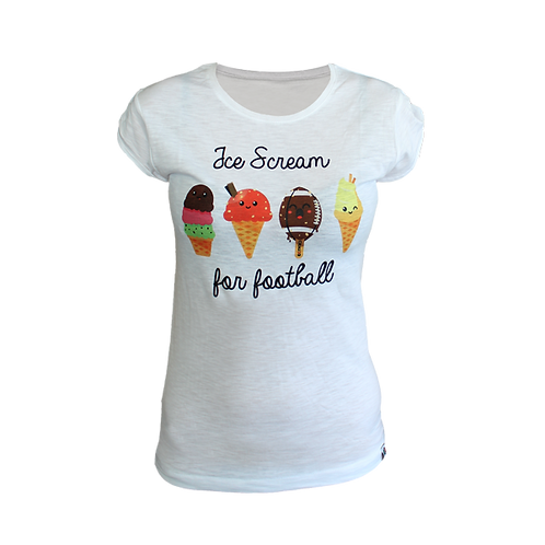"Kpro T-Shirt Woman ""Ice Cream for Football"""