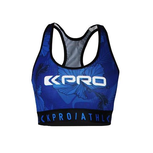 "Kpro ATHL Sports Bra ""Tropical Blue"""