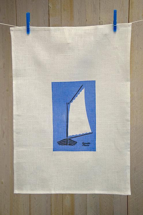 Handduk, Skötbåt, blå