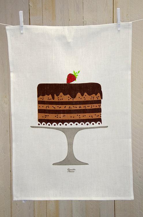 Handduk, Chokladtårta