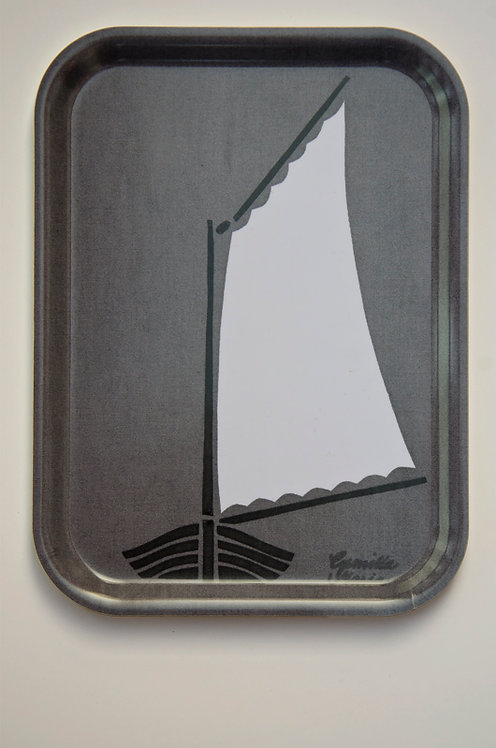 Bricka,Skötbåt grå