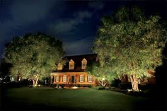 Picture of a house with tree lights installed