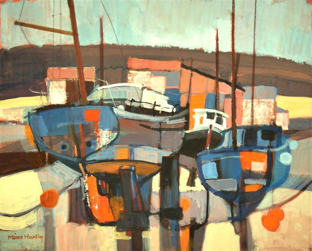 Orange & Blue Boats. SOLD