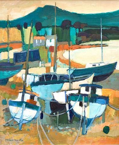 Boats on the Beach.