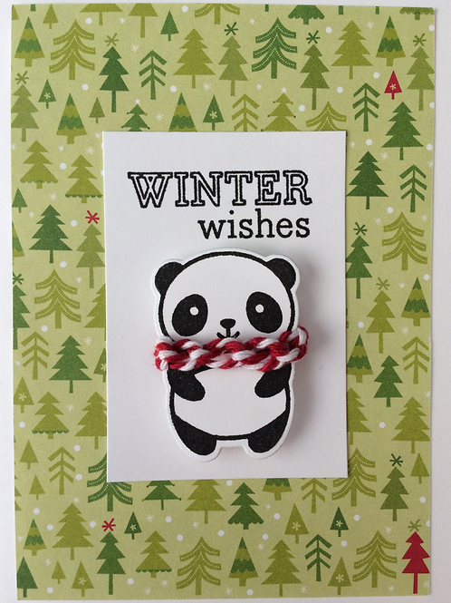 Winter Knitting Greeting Cards