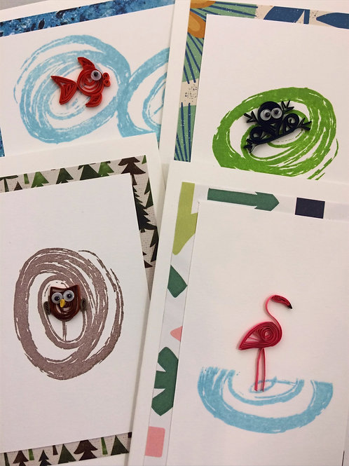 YouTube Videos Quilled Animals Greeting Card Kit