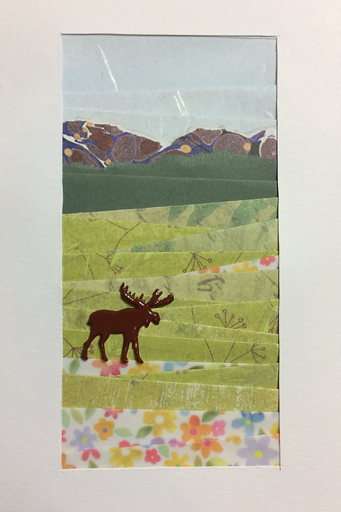 Mountain & Moose Greeting Card Kit