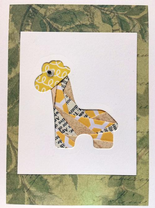 YouTube Giraffe Iris Folding Greeting Card Kit