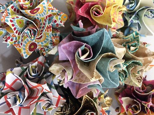Random Colors Origami Ornaments Large Size