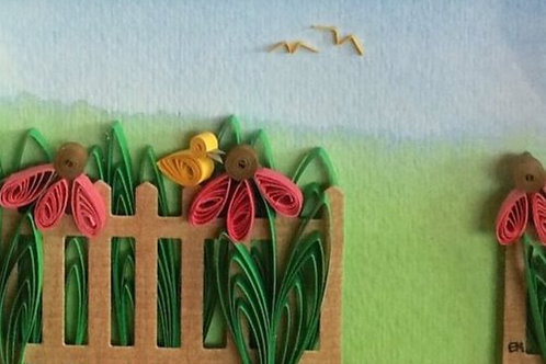 Garden Coneflowers Wall Hanging