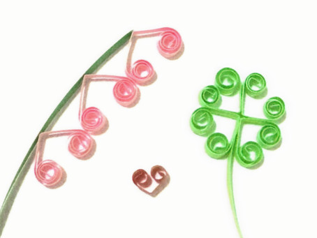 Quilling Hearts and Pattern