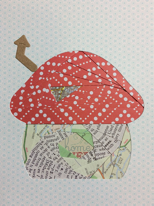 Mushroom House Greeting Card Kit