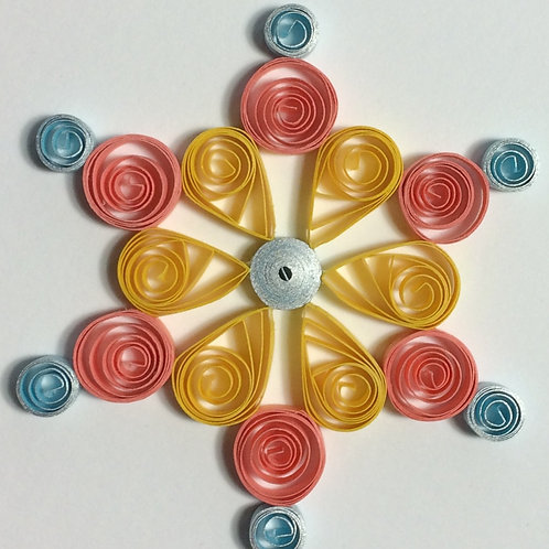 Easy Quilled Mandala Pattern